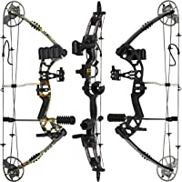 "RAPTOR Compound Hunting Bow Kit: LIMBS MADE IN USA | Fully adjustable 24.5-31"" Draw 30-70LB pull 