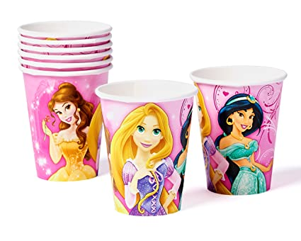 Disney Princess Sparkle Paper Cups Hot and Cold Beverage Drink Birthday Party Disposable Tableware (8  sc 1 st  Amazon.com & Amazon.com: Disney Princess Sparkle Paper Cups Hot and Cold Beverage ...