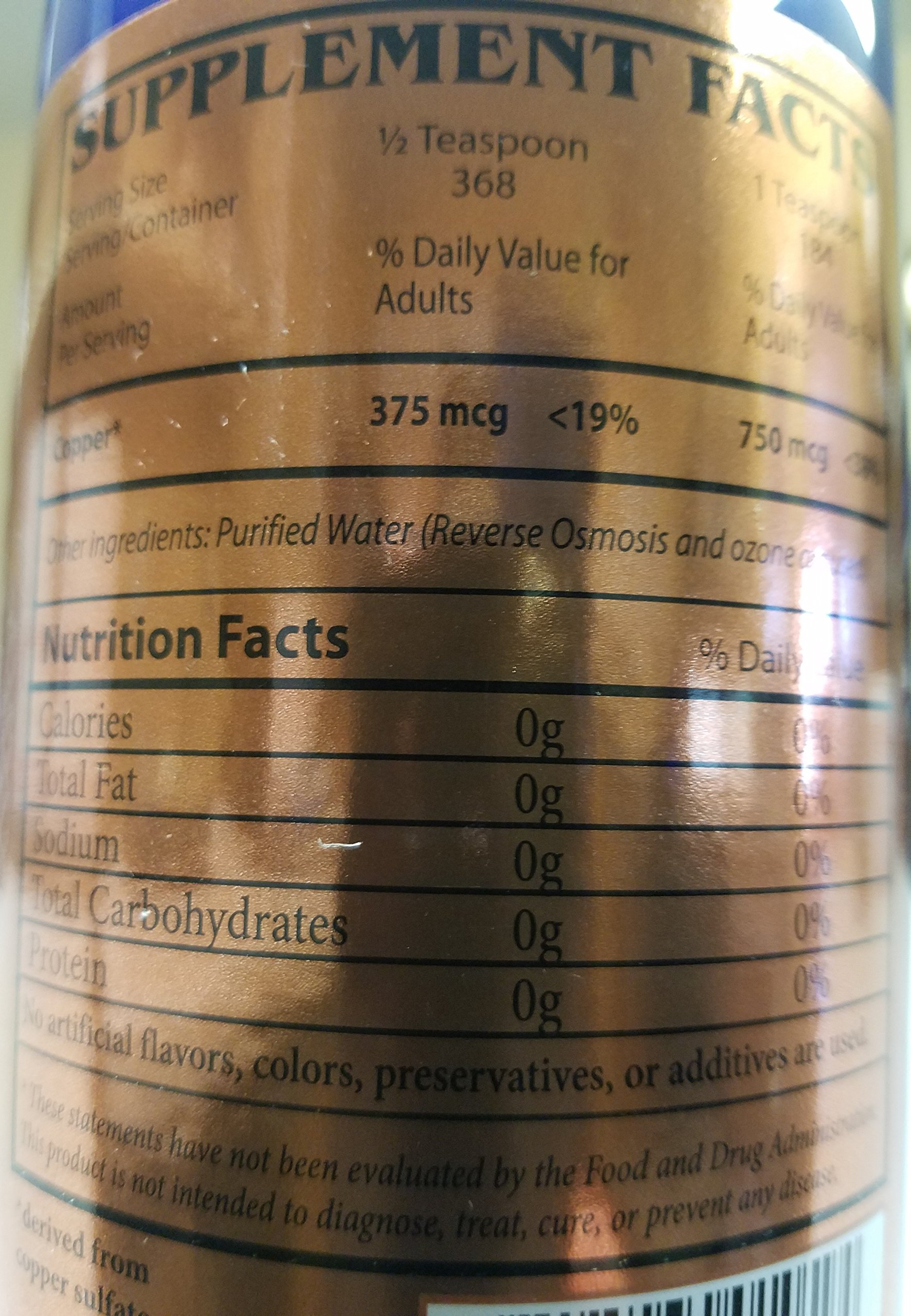 Copper Supplement By Angstrom Minerals Liquid Ionic Copper 150ppm - 32 Oz