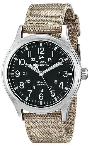 b85c87058956 Timex Expedition - Reloj análogico de cuarzo con correa de nailon para  hombre