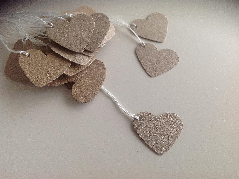 100 pequeños corazón Kraft corbata conejo - crear etiquetas de ...