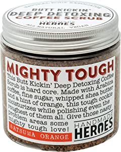 All Natural Vegan Coffee Scrub with Organic Coffee | Natural Body Exfoliator for Reducing Appearance of Cellulite & Spider Vein