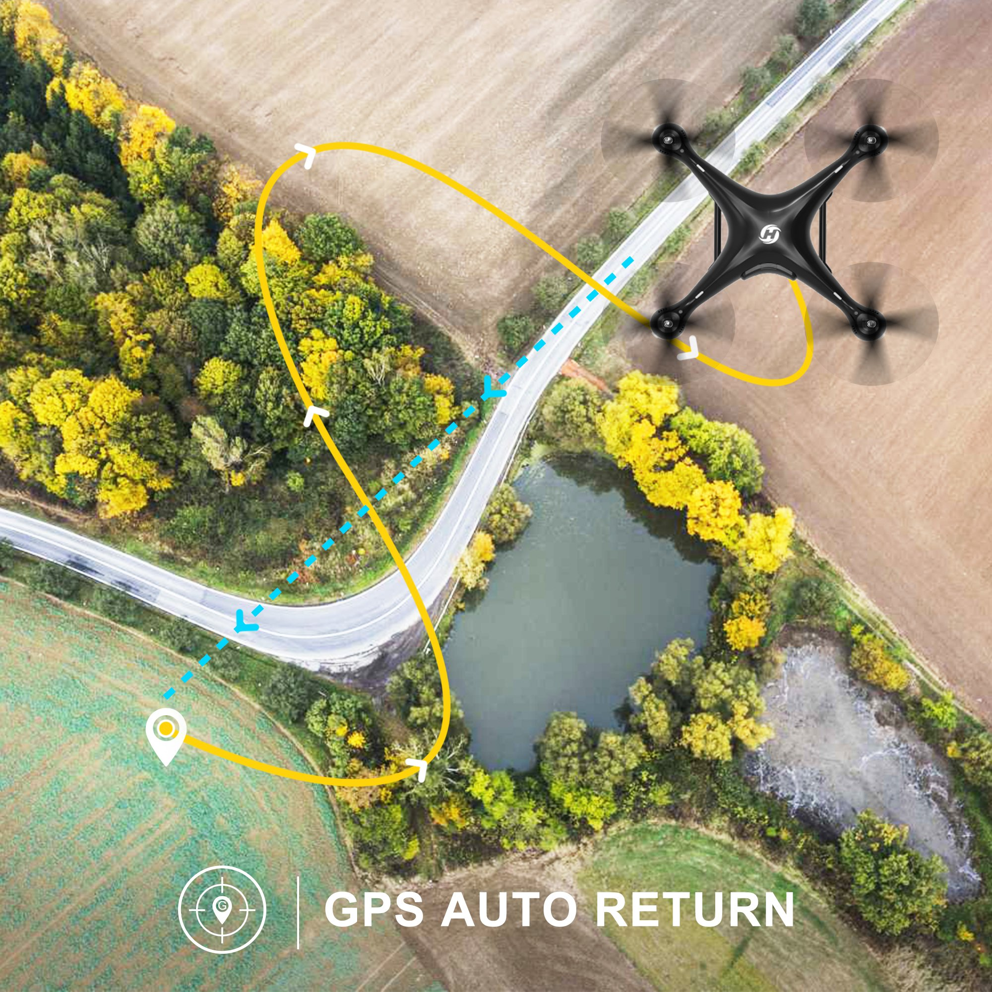 Holy Stone HS100 FPV RC Drone with Camera Live Video and GPS Return Home Quadcopter with Adjustable Wide-Angle 720P HD WIFI Camera- Follow Me, Altitude Hold, Intelligent Battery, Long Control Distance by Holy Stone (Image #3)