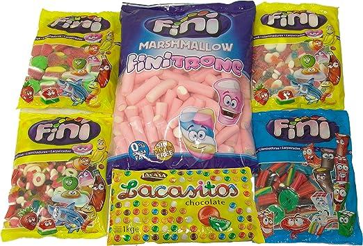 Sonpó Online - Pack FSA2 - Pack de golosinas y dulces distribuido por Frutos Secos Azaña - Bolsas de 1 kilo - Ideal para fiestas y eventos: Amazon.es: Alimentación y bebidas