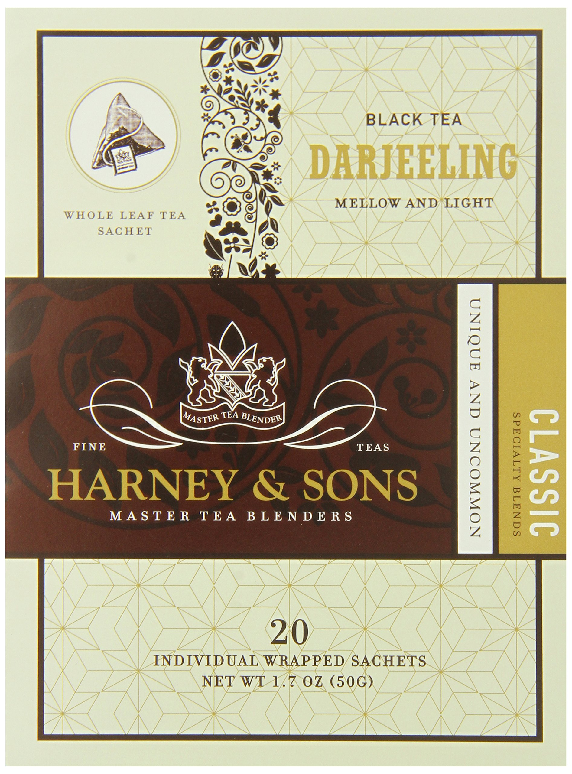 Harney & Sons Black Tea, Darjeeling, 20 Sachets (Pack of 6) by Harney and Sons