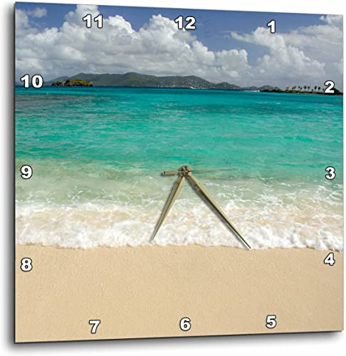 3dRose DPP_70117_3 USVI, St.Thomas, St. John Bay, Sapphire Beach-CA37 CMI0040-Cindy Miller Hopkins-Wall Clock, 15 by 15-Inch