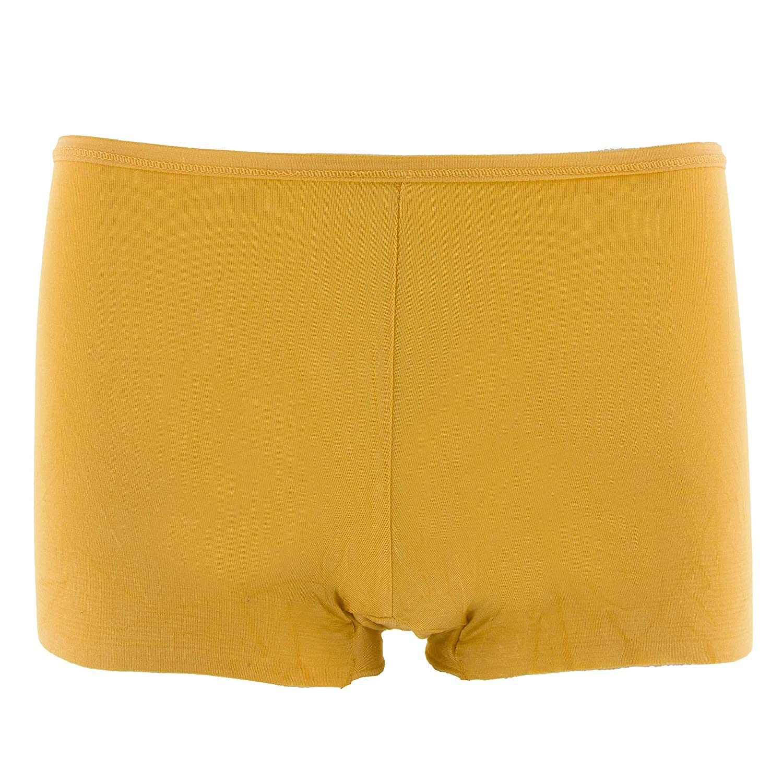 KICKEE Womens Solid Boy Short Underwear in Marigold M