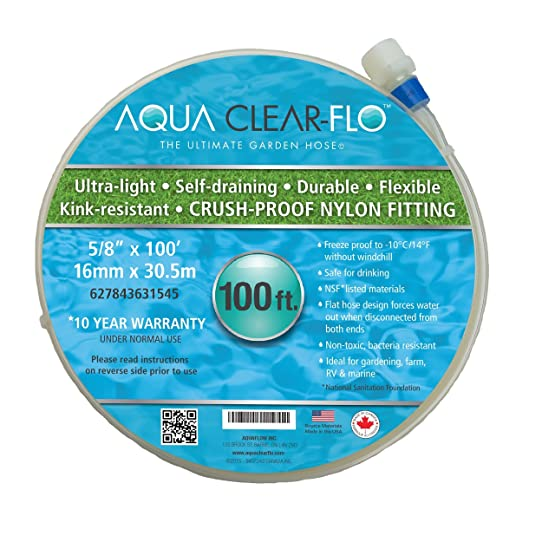 Aqua Clear Flo Water Garden Hose: The Ultimate Garden Hose. The Best Flat