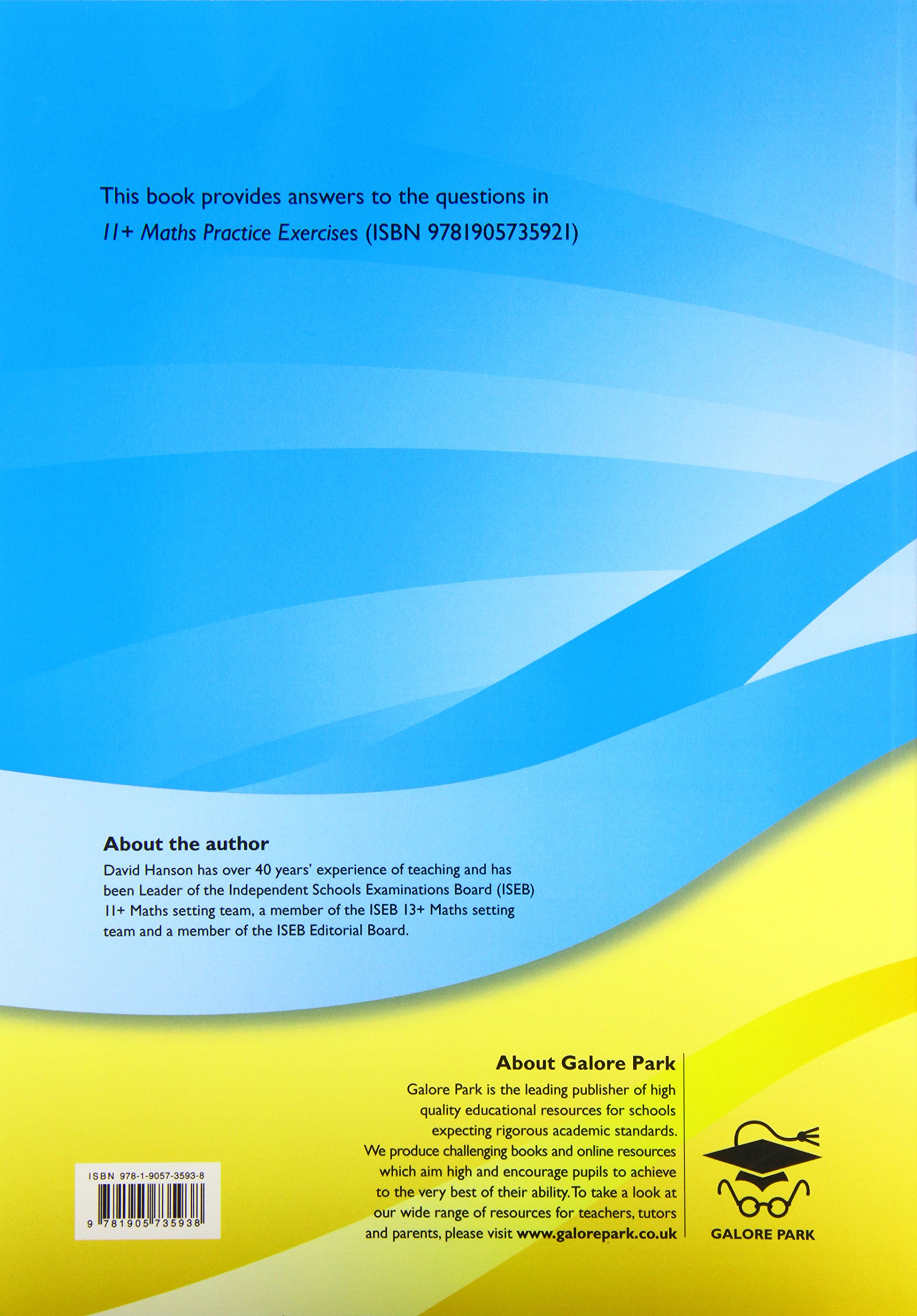 Buy 11+ Maths Practice Exercises Answer Book Book Online at Low ...