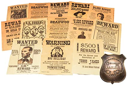 Wyatt Earp Wanted Poster Exact Reproduction On 24 Pound Parchment Paper Collectibles Historical Memorabilia