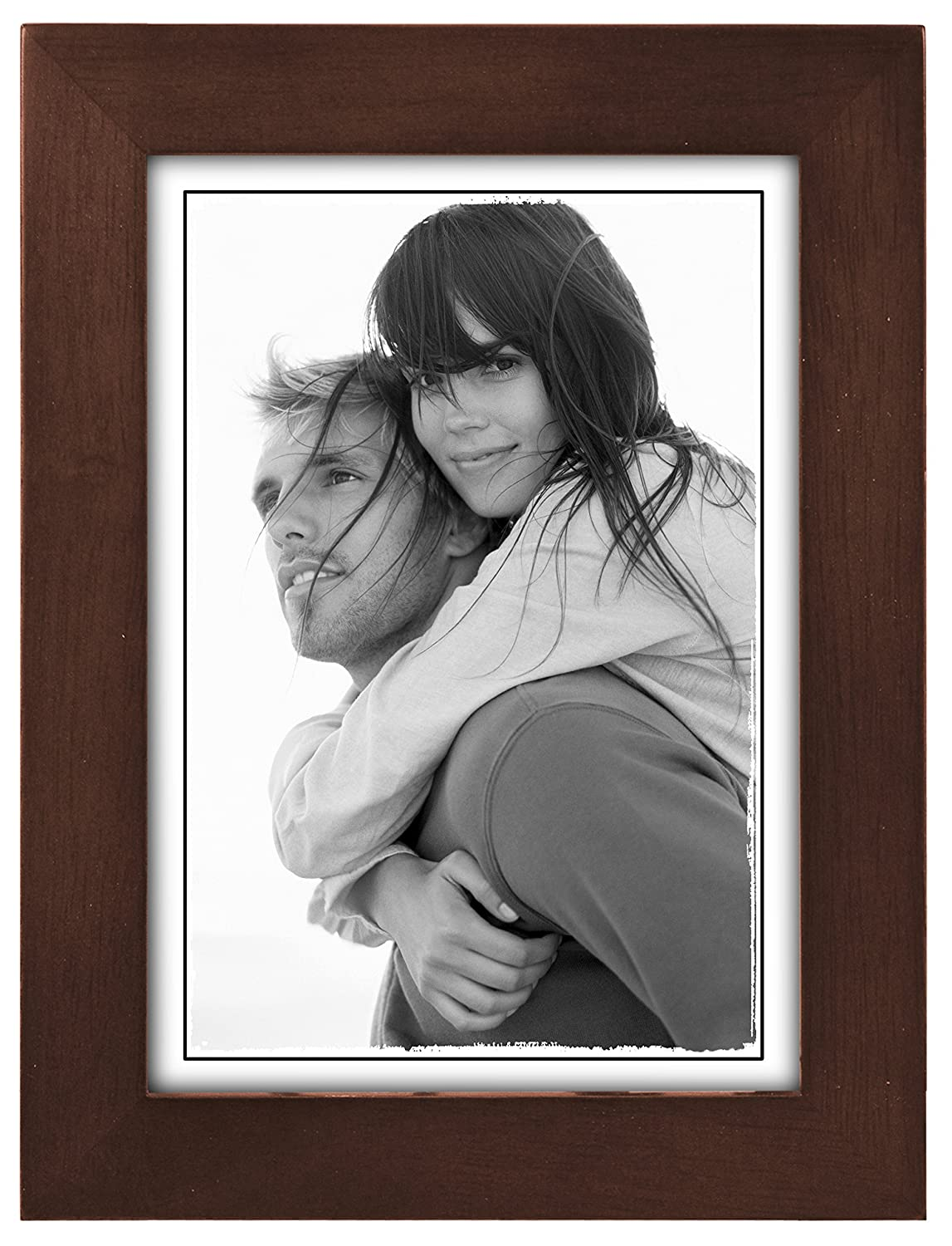 Rustic Black Wood Frame Rustic Black Solid Wood Picture Frame With ...