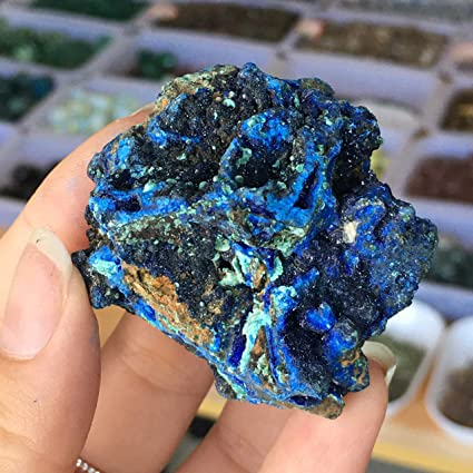 NBKLSD Natural Azurita Malaquita Mineral Prima Mineral de ...