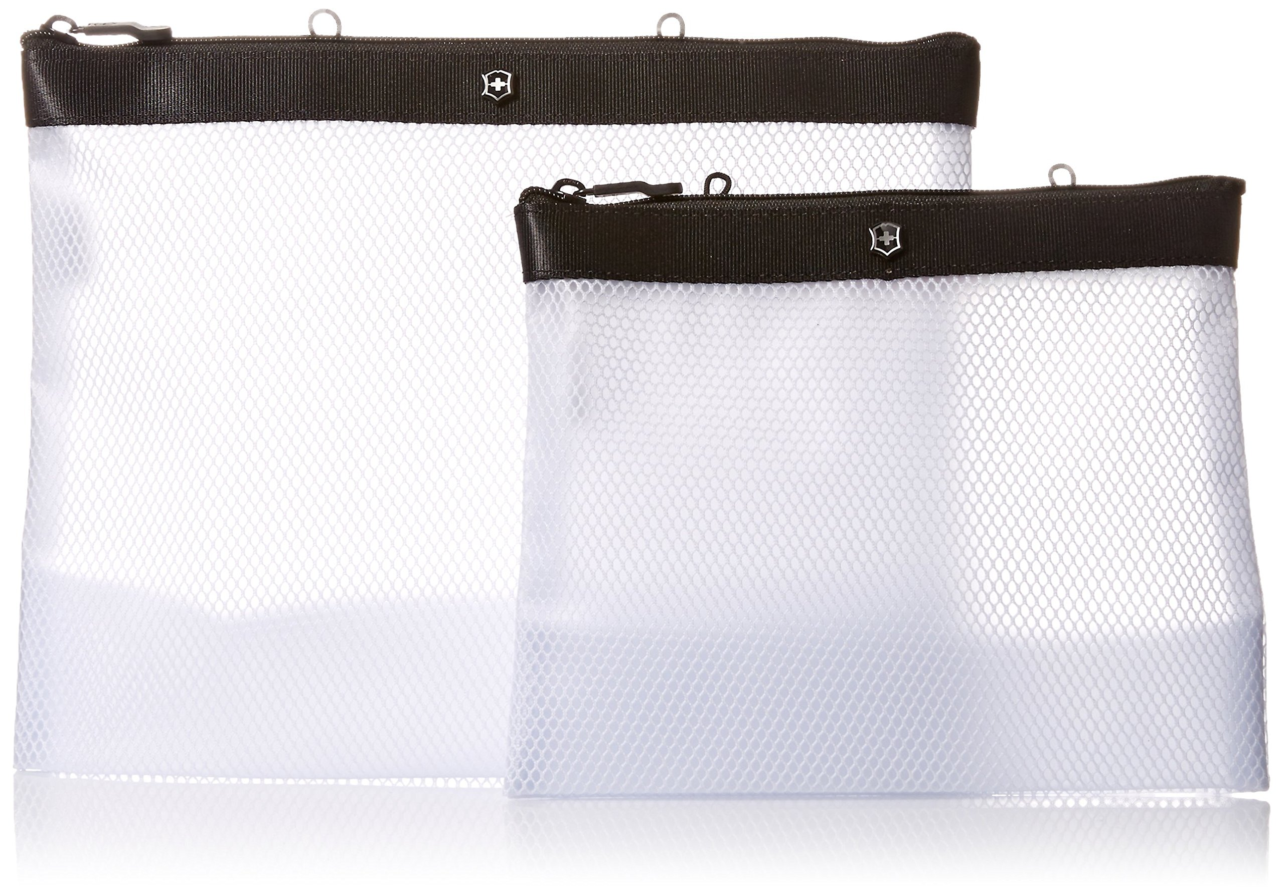 Victorinox Set of Two Spill-Resistant Pouches, Black Logo
