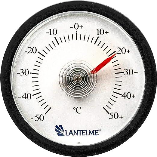 Lantelme 7723 - Termómetro analógico para frigorífico, color negro ...
