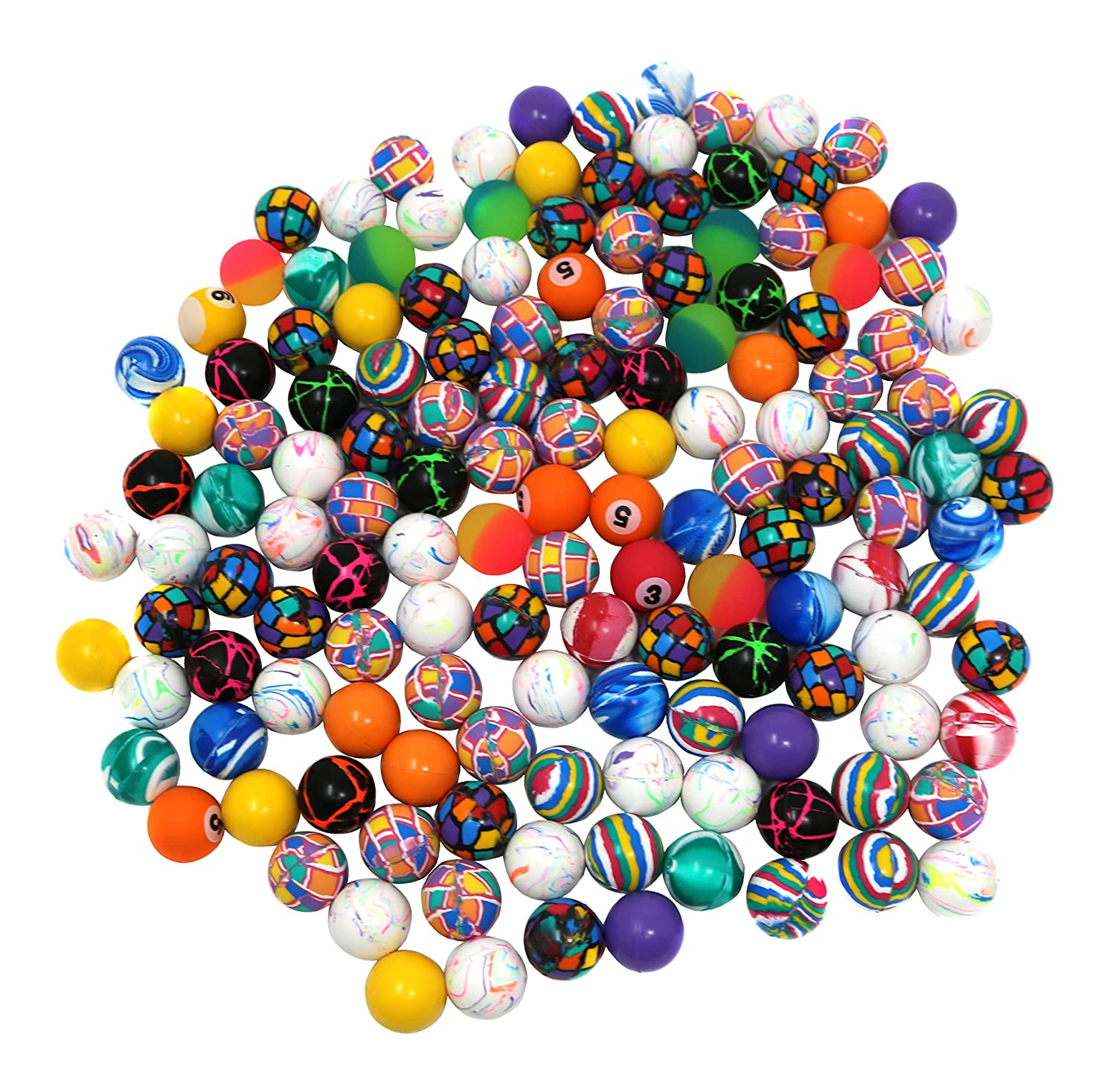 Bulk Pack Of 144 Super Bouncy Ball Assortment Mini Bouncing Balls In Exciting Colors And Styles SN Incorp