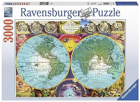 71b0679df4a Amazon.com: Ravensburger Antique Map Puzzle 3000 Piece Jigsaw Puzzle ...