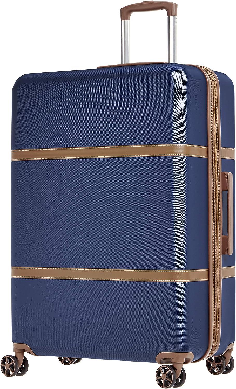 AmazonBasics Vienna Spinner Luggage Expandable Suitcase with Wheels