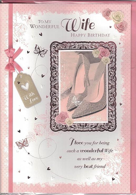 Tarjeta de cumpleaños para esposa ~ to my wonderful wife ...