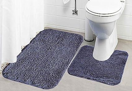 Kridhay Natura Life 2 Piece Cotton Contour Bathmat Set - 16