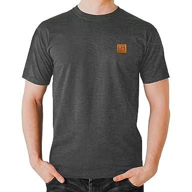 urban air Herren T-Shirt, Einfarbig Schwarz Schwarz Medium Gr. XL, Gris b351904132