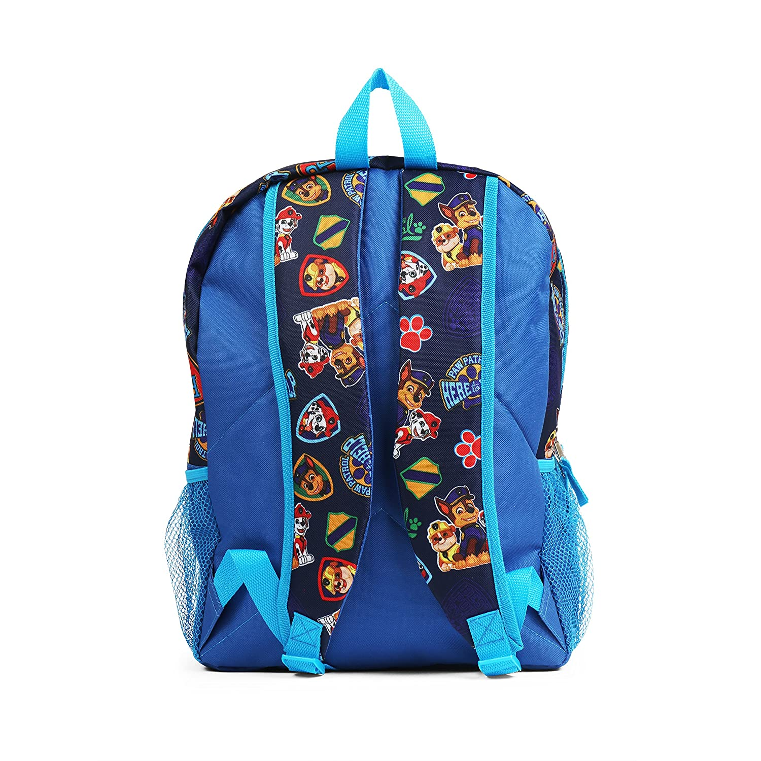 Nickelodeon Paw Patrol 16 Blue All Over Print Backpack with Stationery Set for Kids School Bag KADPPBPWSS