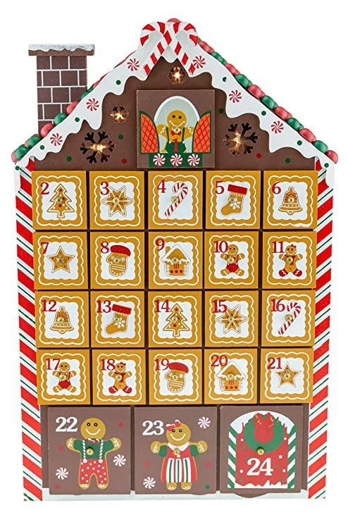 Clever Creations Gingerbread House Advent Calendar , Bright