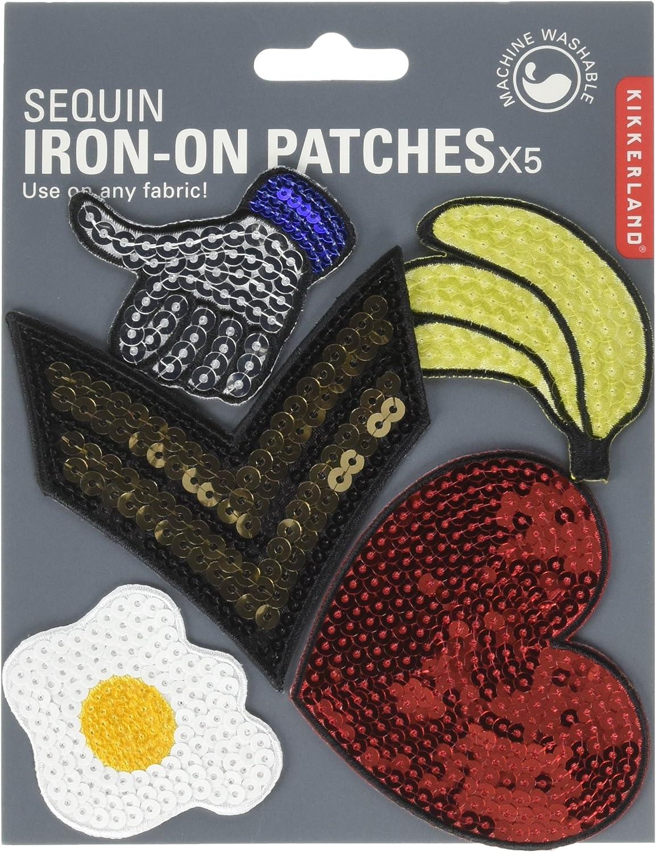 Kikkerland Sequin Patch Iron Set of 5