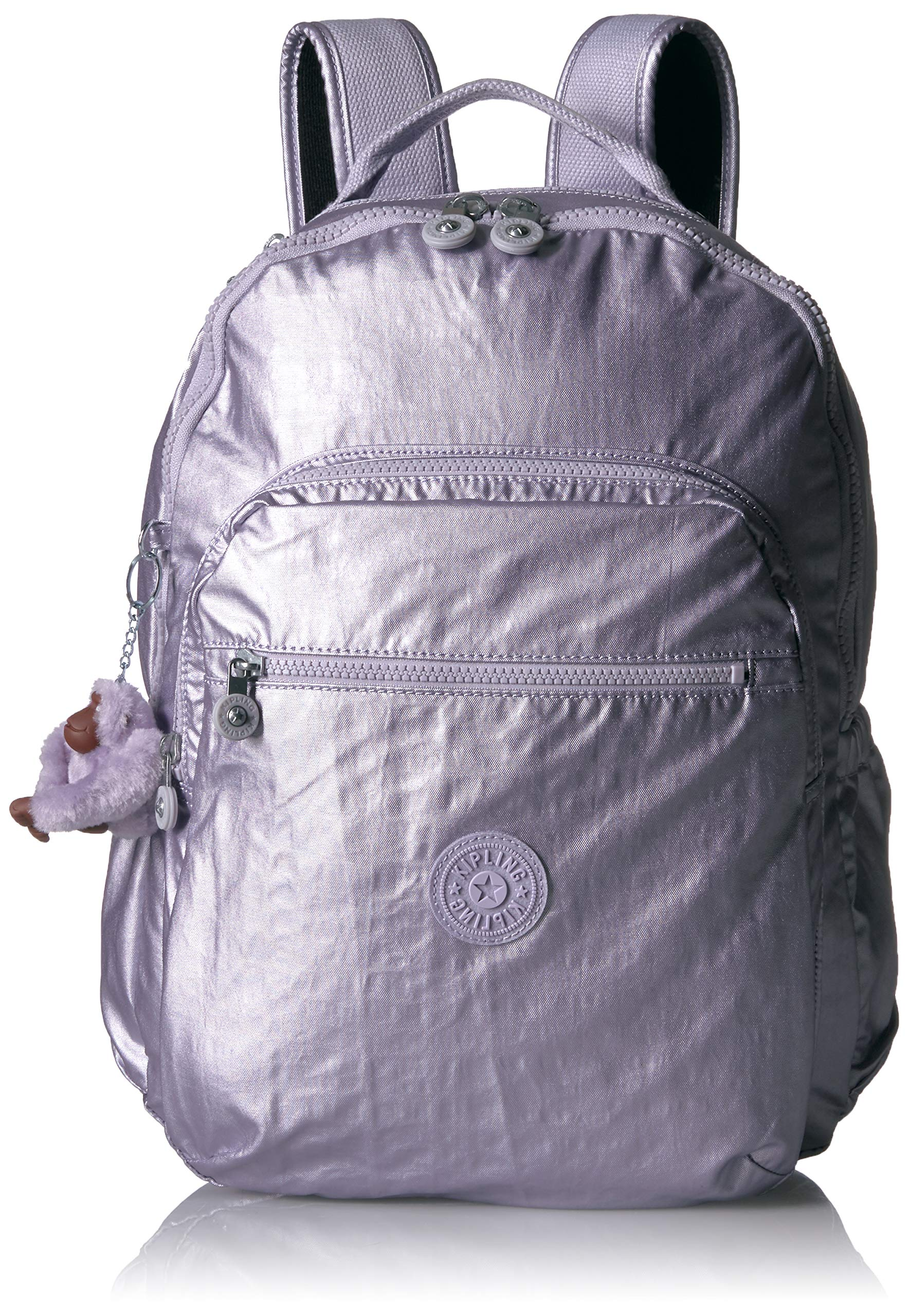 Kipling Seoul Go Laptop, Padded, Adjustable Backpack Straps, Zip Closure, Frosted Lilac Metallic by Kipling