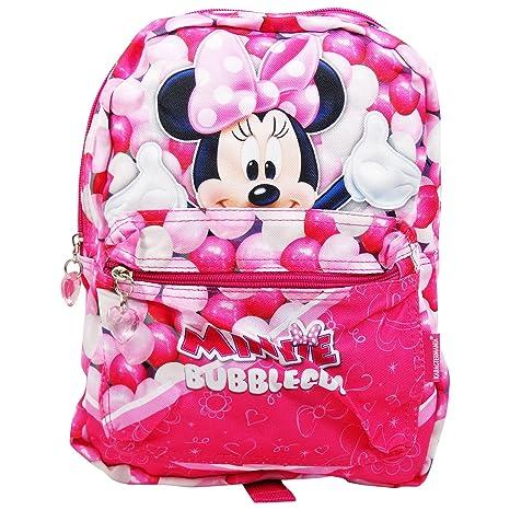 DISNEY Minnie Bubble Gum - Mochila Reversible - con Hombreras Tapizadas y Ajustables- Color Rosa