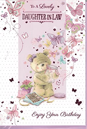Daughter In Law Birthday Card To A Lovely Daughter In Law Enjoy