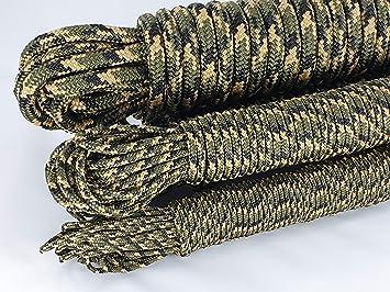 ANBP Moro - Cuerda de camuflaje verde de polipropileno, 10 m ...