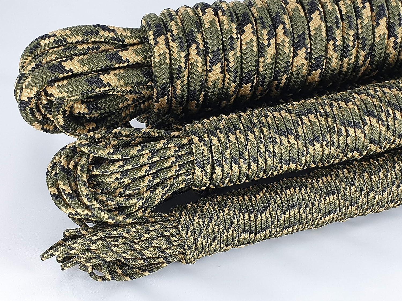 ANBP MGold Camouflage Seil Grün Polypropylenseil ganze Spule 180m-350m - 3mm 4mm 5mm 6mm 8mm 10mm 12mm (0,10€ m - 1,00€ m)