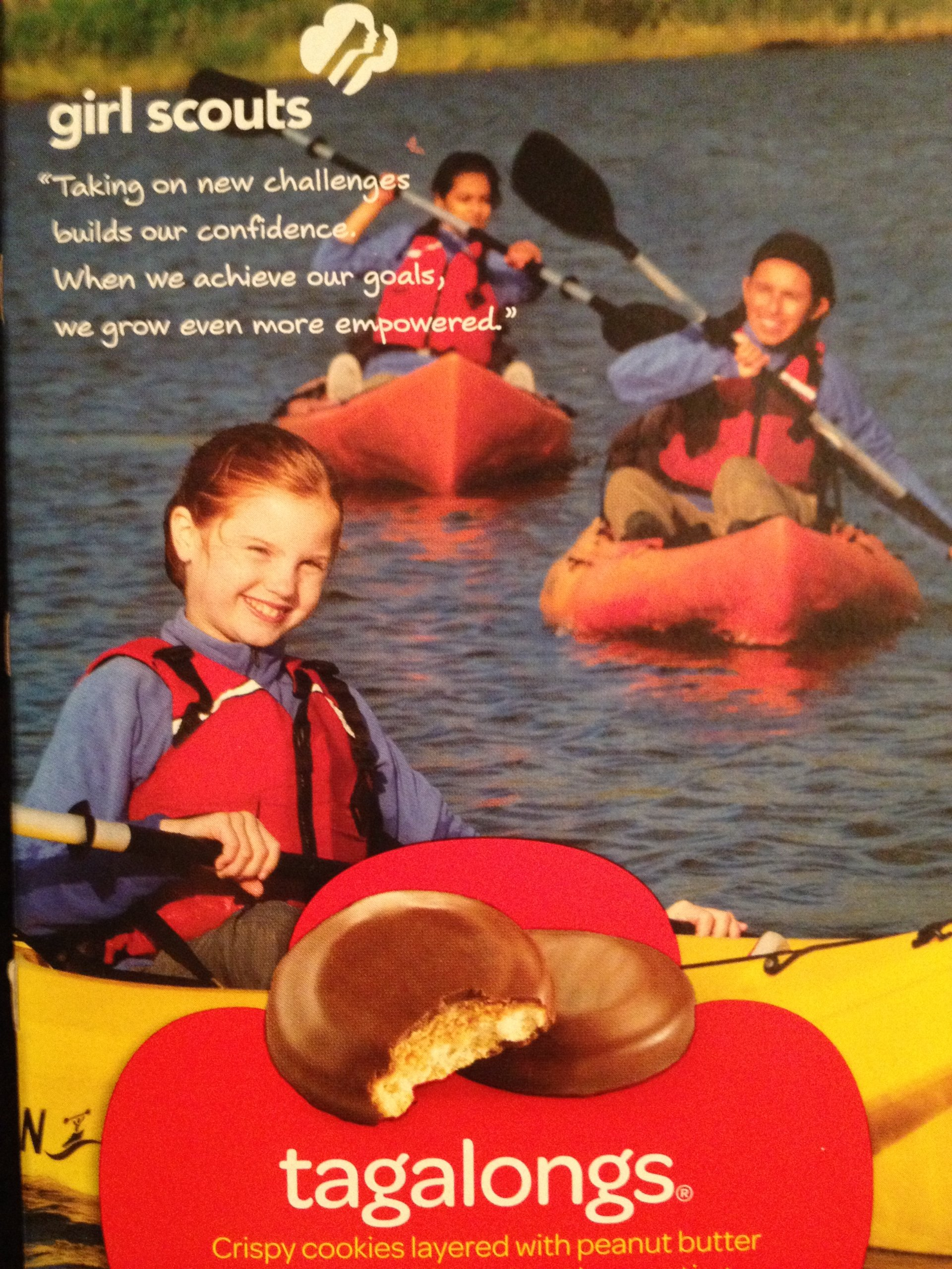 GIRL SCOUT COOKIES Tagalongs (14 per box) Full Case of 12 boxes