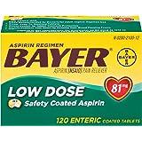 Bayer Aspirin Regimen Low Dose 81mg Enteric Coated Tablets, 120-Count