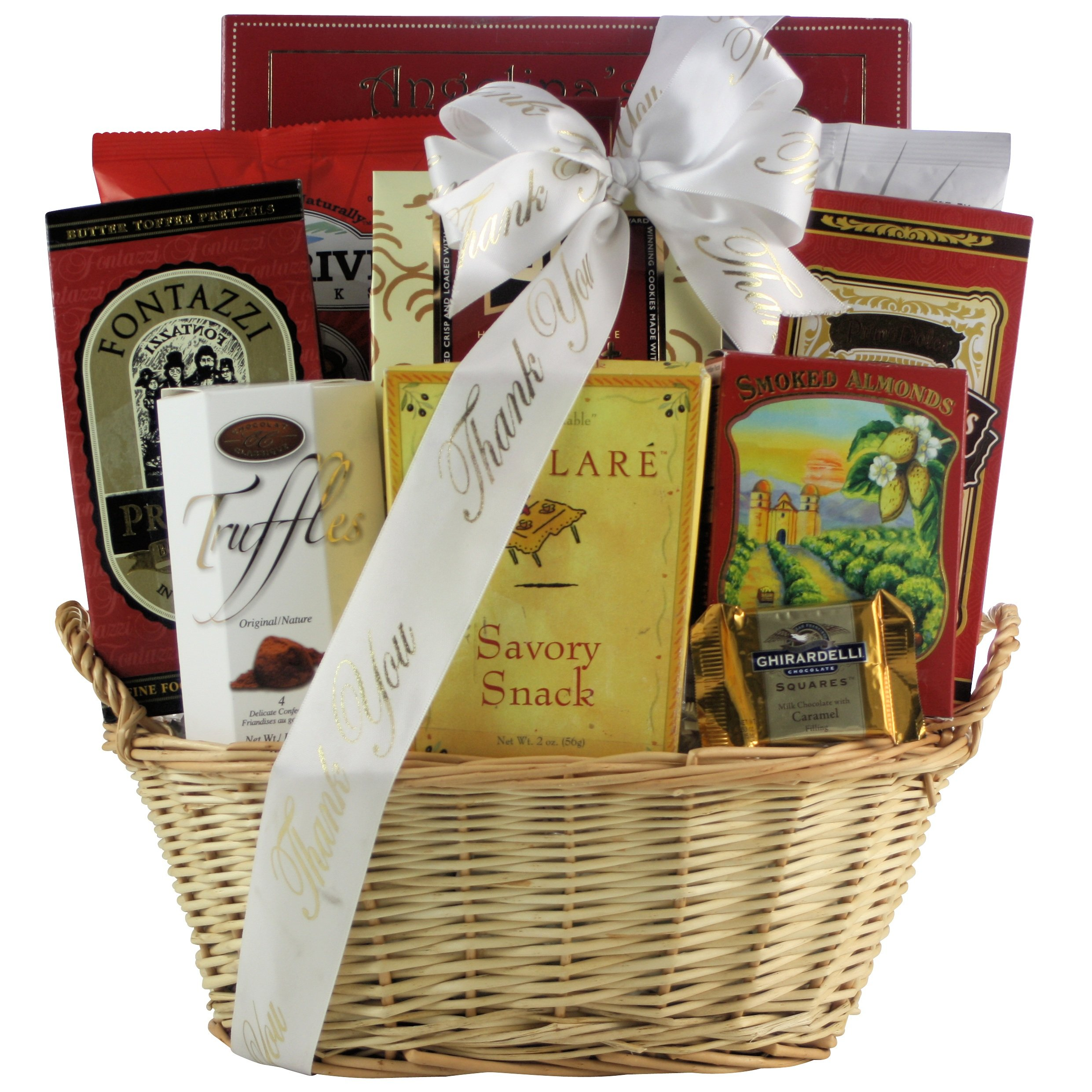 GreatArrivals Snack Attack Thank You Snack Basket, Small, 3 Pound