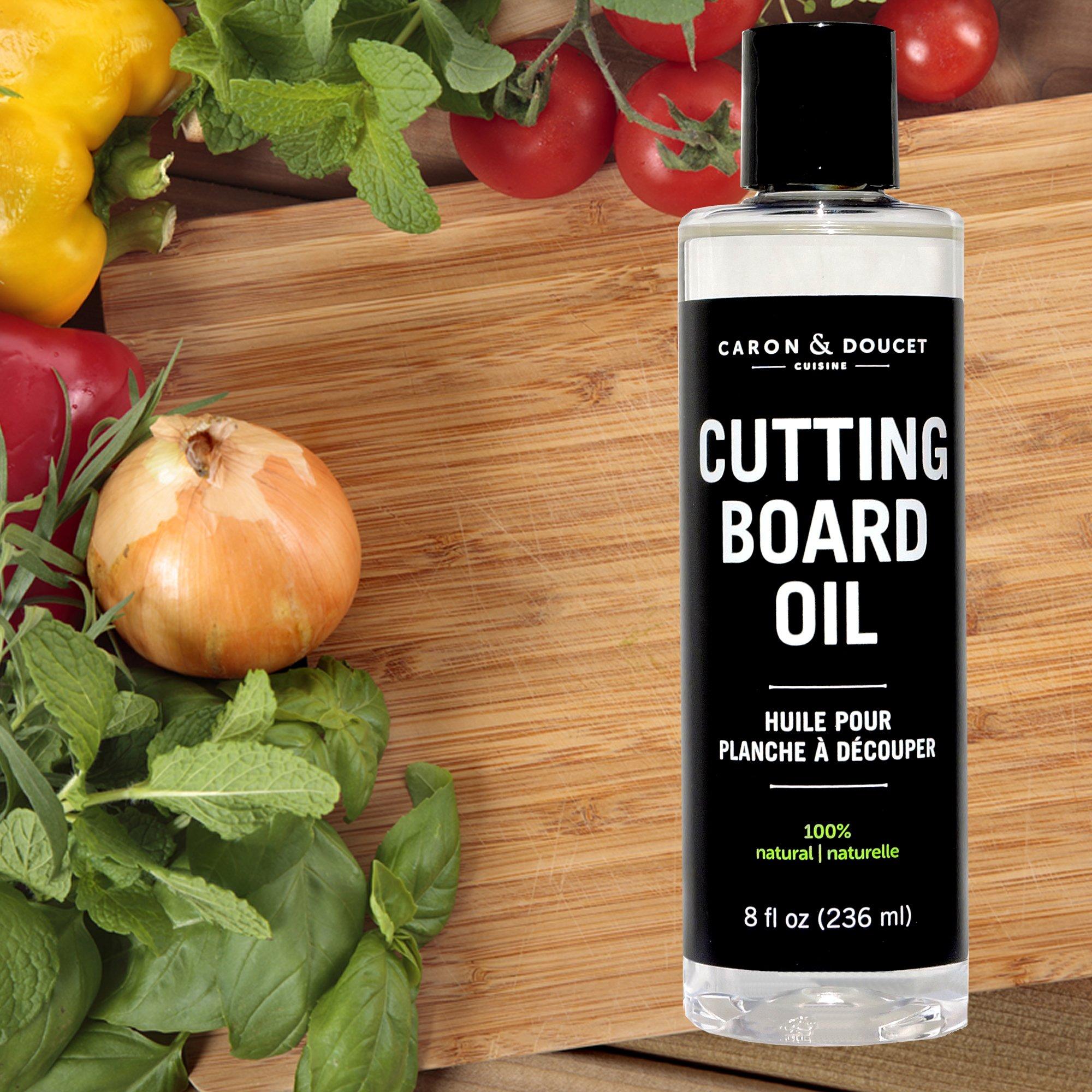 Caron & Doucet - Cutting Board & Butcher Block Bundle: 2 items - 1 Cutting Board & Butcher Block Oil, 1 Cutting Board & Butcher Block Wax. 100% Plant Based (8oz Bullet) by Caron Doucet Cuisine (Image #2)