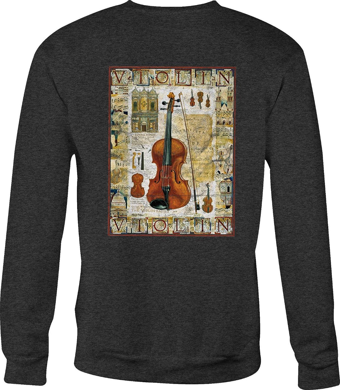 Hoody Motorcycle Crewneck Sweatshirt Violin Classical Strings Instrument