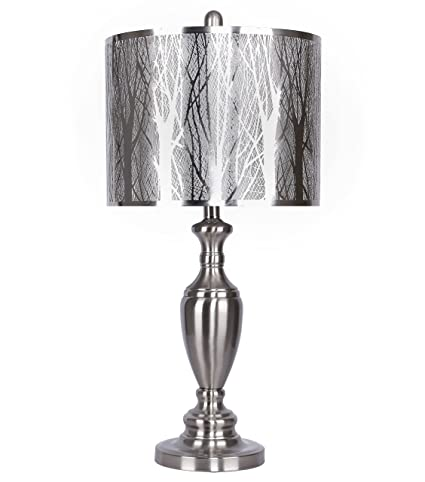 Grandview gallery table lamp with laser cut shade laser cut tree grandview gallery table lamp with laser cut shade laser cut tree scene with sparkle white aloadofball Choice Image