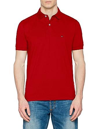 Tommy Hilfiger Herren Poloshirt Regular Polo, Rot (Haute Red 611), Small f89eb57930