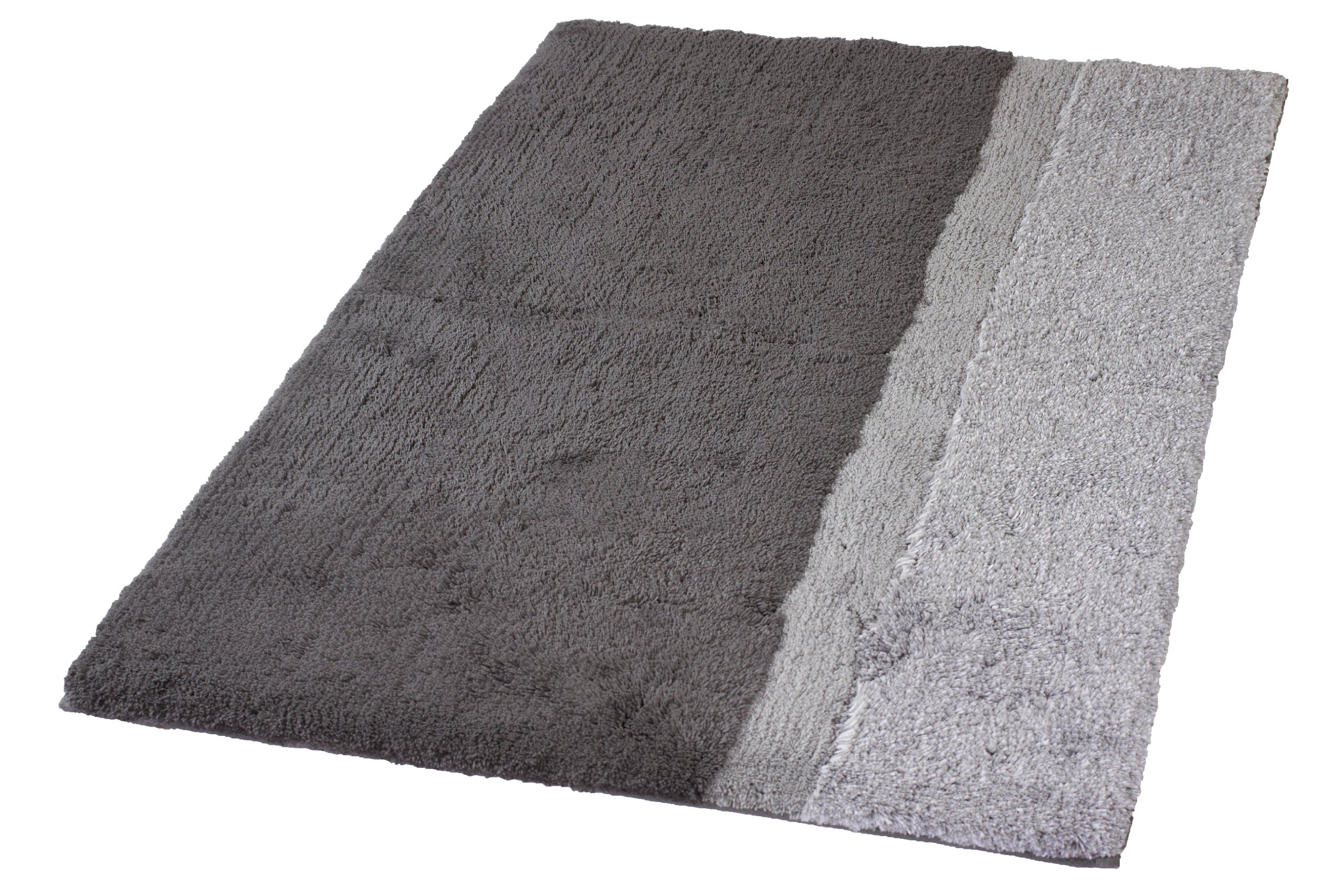 Kleine Wolke Eco Living Life Non Slip Cotton Bathroom Rug (27.6'' x 47.2'', Anthracite grey)
