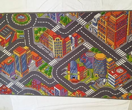 Immagini Case Grigie : Gioco tappeto grande città auto tappeto edifici strade grigie