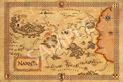 Map Of Narnia Amazon.com: Best Print Store   The Chronicles of Narnia, Narnia
