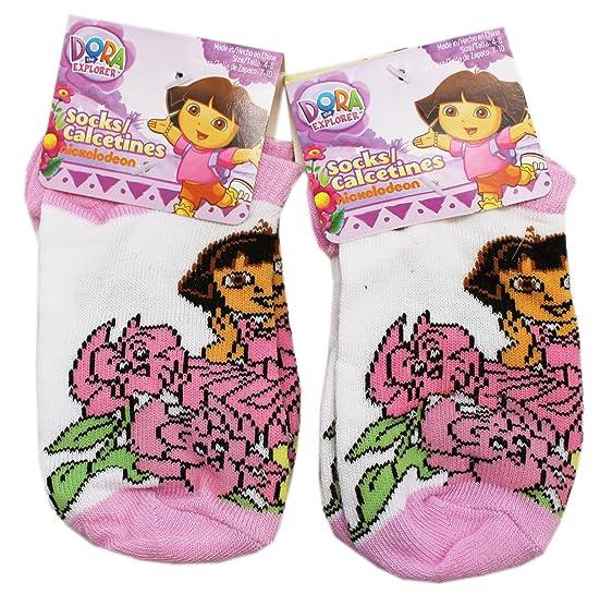 Dora the Explorer Talking and Walking Flowers Kids Socks (1 Pair, Size 4-