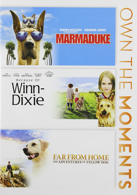 Amazon.com: Marmaduke / Because of Winn Dixie / Far From Home Triple ...