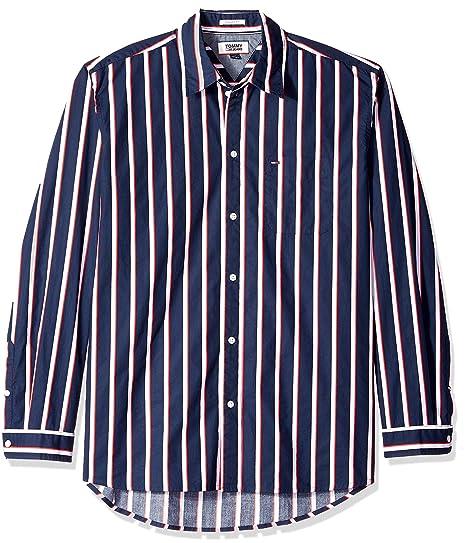 f32d3a99 Tommy Hilfiger Men's Button Down Shirt Bold Stripe: Amazon.co.uk: Clothing