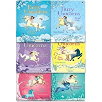 Fairy Unicorns Collection 6 Books Set by Zanna Davidson (Star Spell, Frost Fair, Enchanted River, Wind Charm, Cloud Castle, Magic Forest) Paperback by Zanna Davidson