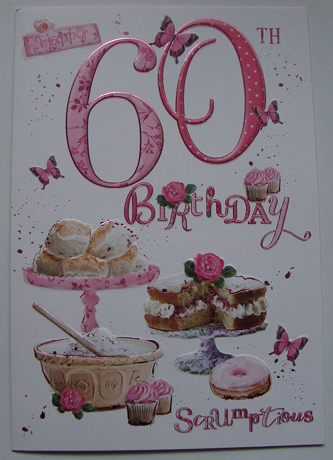 Incredible 60Th Birthday Card Ladies Baking Cakes Design With Insert Verse Funny Birthday Cards Online Elaedamsfinfo