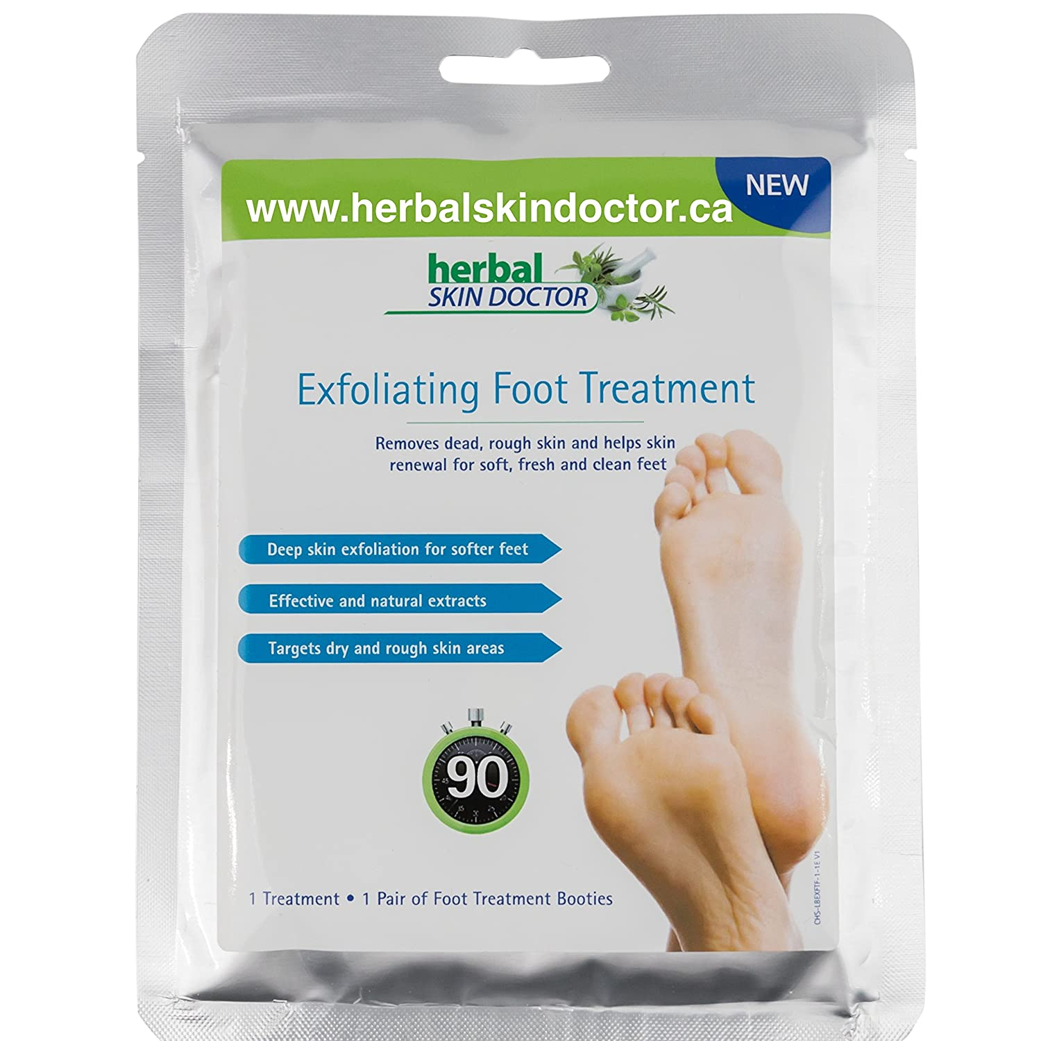 Exfoliating Foot Treatment Herbal Skin Doctor, dry treatment for baby soft skin. Removes dead, rough skin and helps skin renewal for soft, fresh and clean feet. Medex Scientific co uk