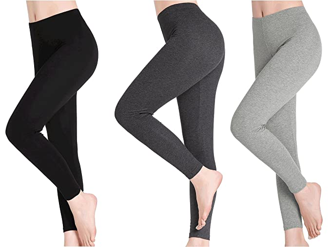 36ea3183039b19 Amazon.com: CnlanRow Womens Workout Leggings Capri - Ultra Stretch Soft  Ankle Length - 3 Pack: Clothing