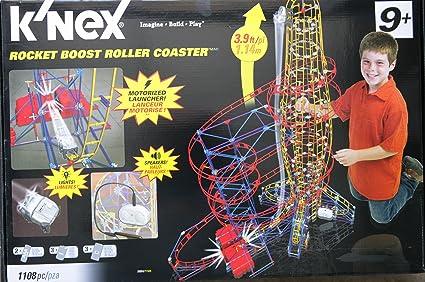 KNex K NEX cohete Boost montaña rusa